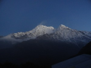 Erste Aussicht Morgens im High-Camp