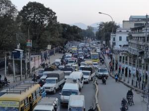 Zum Vergleich: Normales Chaos auf den Straßen
