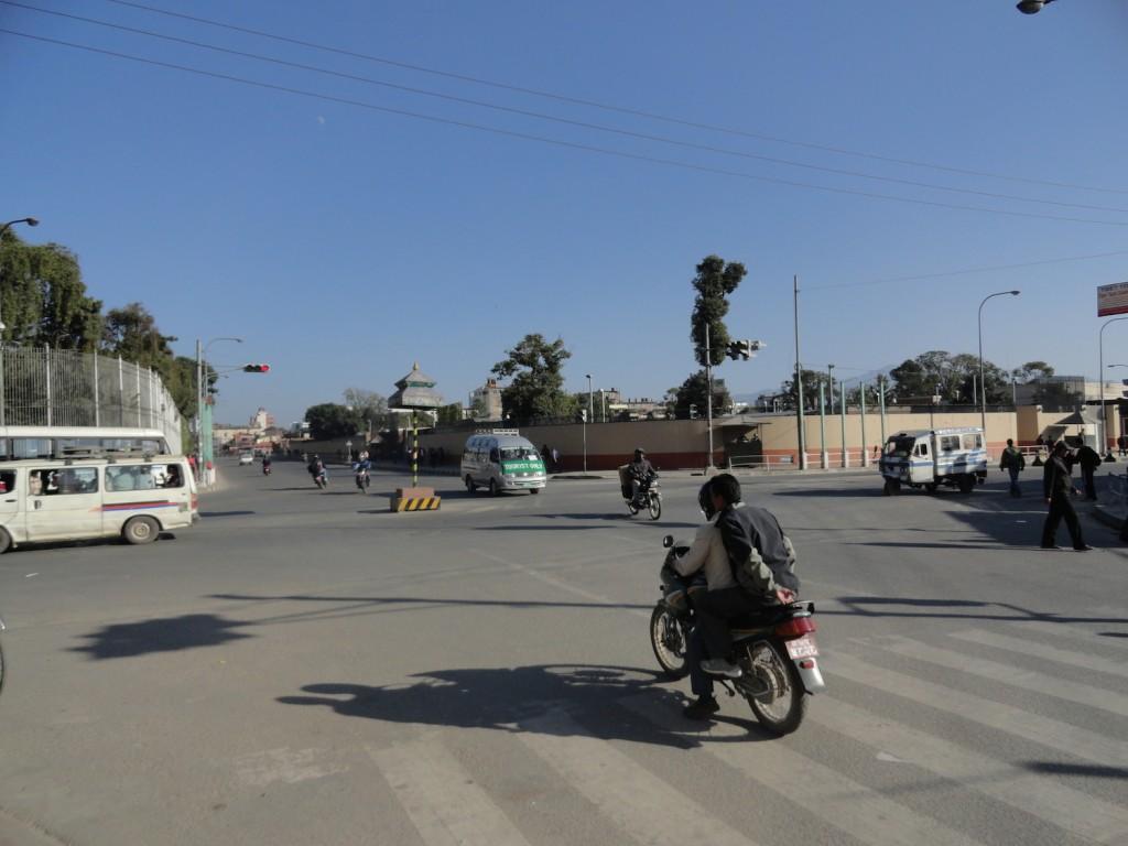 Leere Kreuzung in Thamel