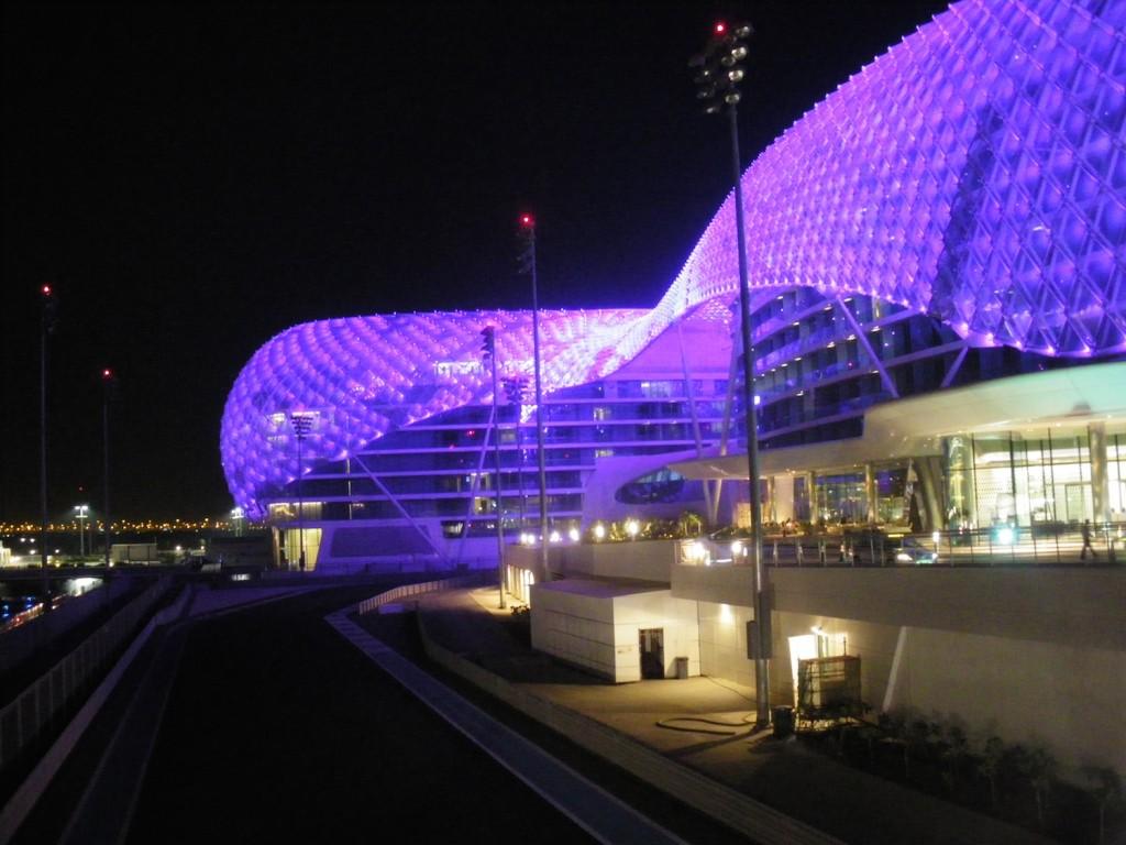 Rennstrecke in Abu Dhabi