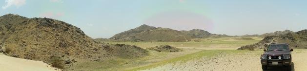 Steinwüsten Panorama bei Mekka