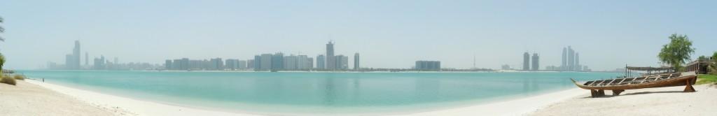 Panorama der Corniche von Abu Dhabi