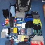 Rucksack mit Inhalt der Sri Lanka Reise