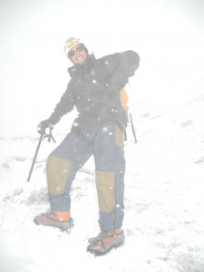 Bergsteigermontur: einfach vor Ort geliehen