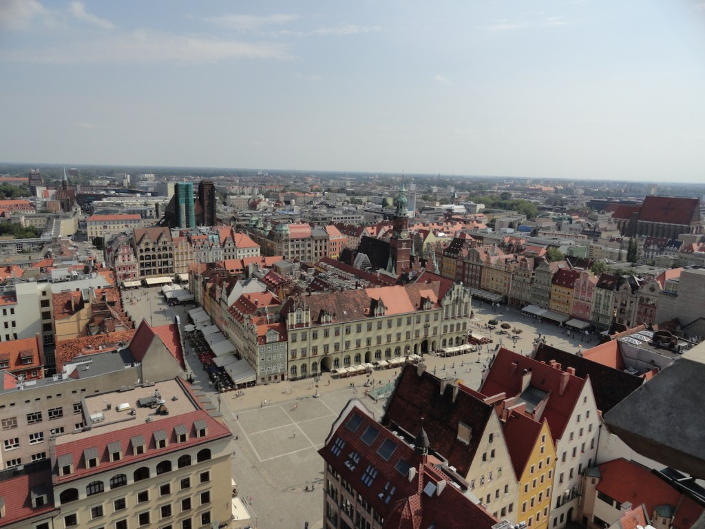 Blick über den Marktplatz von Breslau