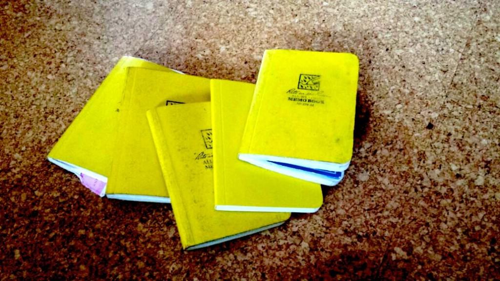 Sammlung meiner gelben Notizbücher