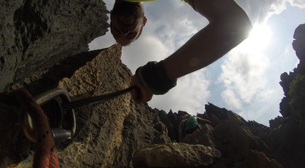 Klettersteig im