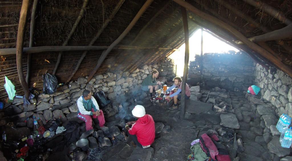 Hütte auf dem Zeltplatz