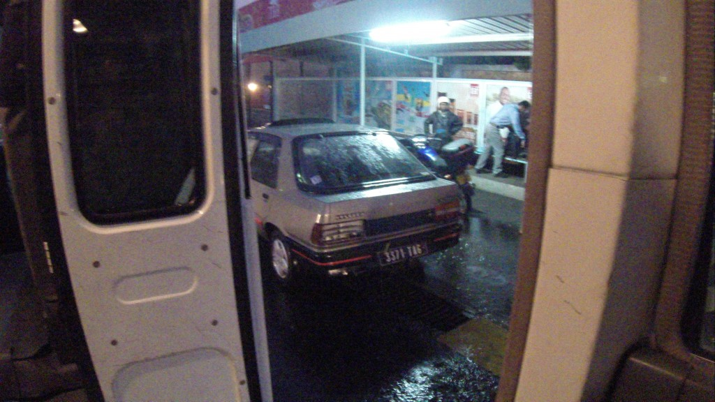 Mein Willkommen am Flughafen in Tana - Regen