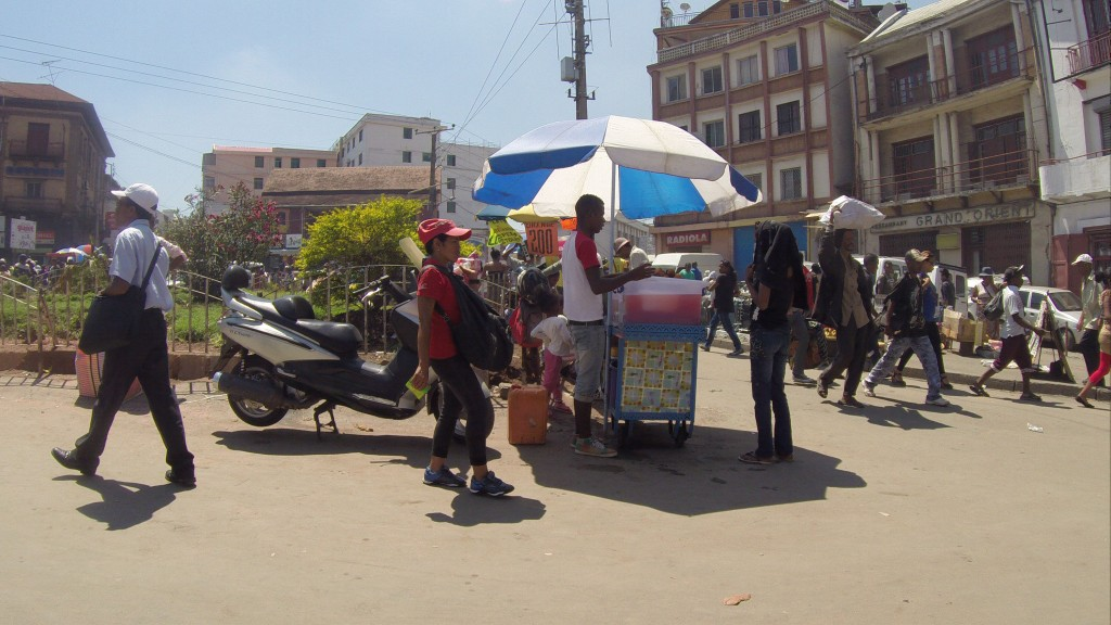 Straßenhändler in Tana