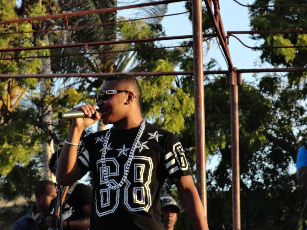 Big MJ beim Konzert in Tuléar