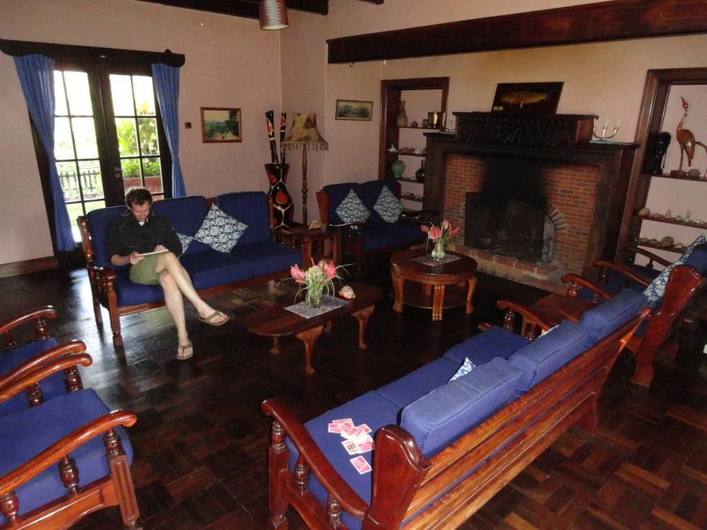 Kaminzimmer in der Mullers Mountain Lodge