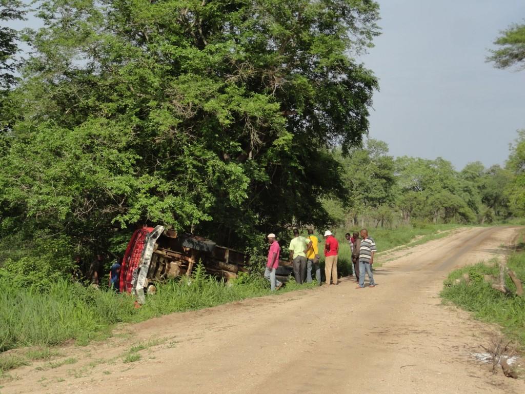 Unfall auf Mosambiks Straßen