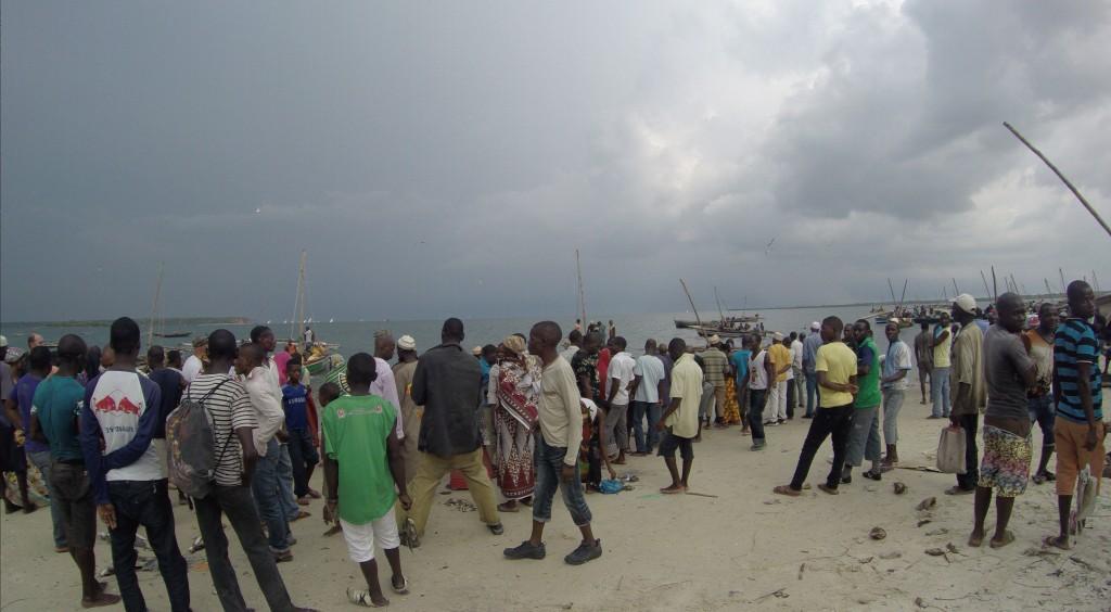 Fischmarkt am Strand von Mocímboa da Praia