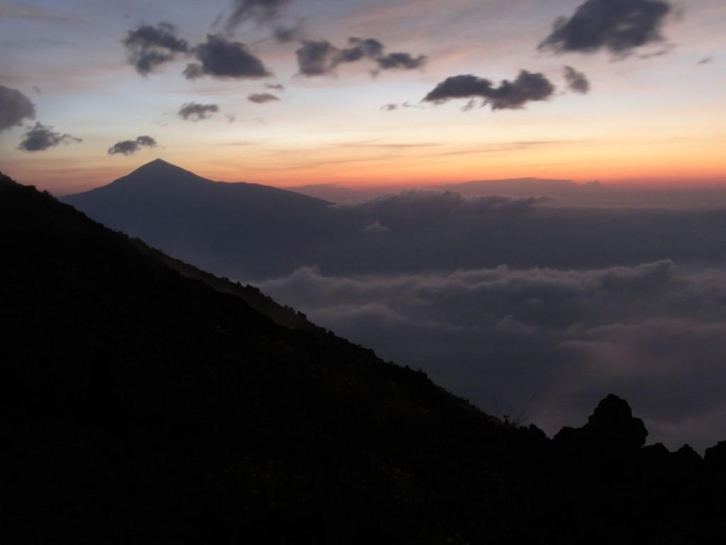 Karisimbi volcano during sunrise
