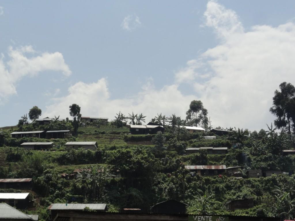 Wohngebiete in der Nähe der Berggorillas
