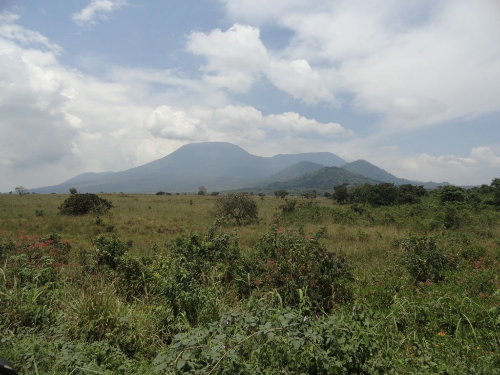 Nyiragongo volcano from the distance