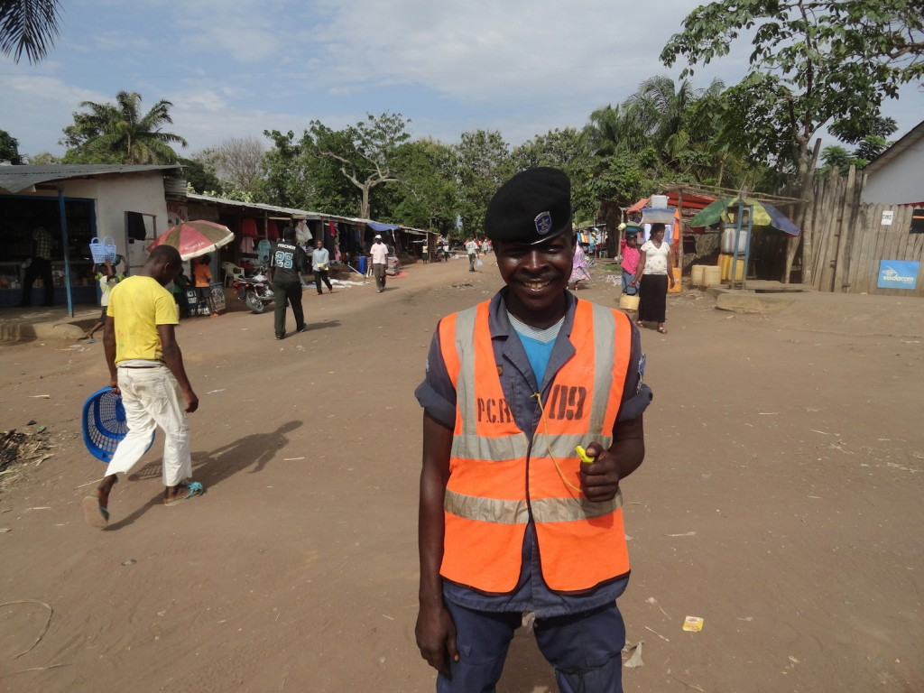 Traffic police in Lisala