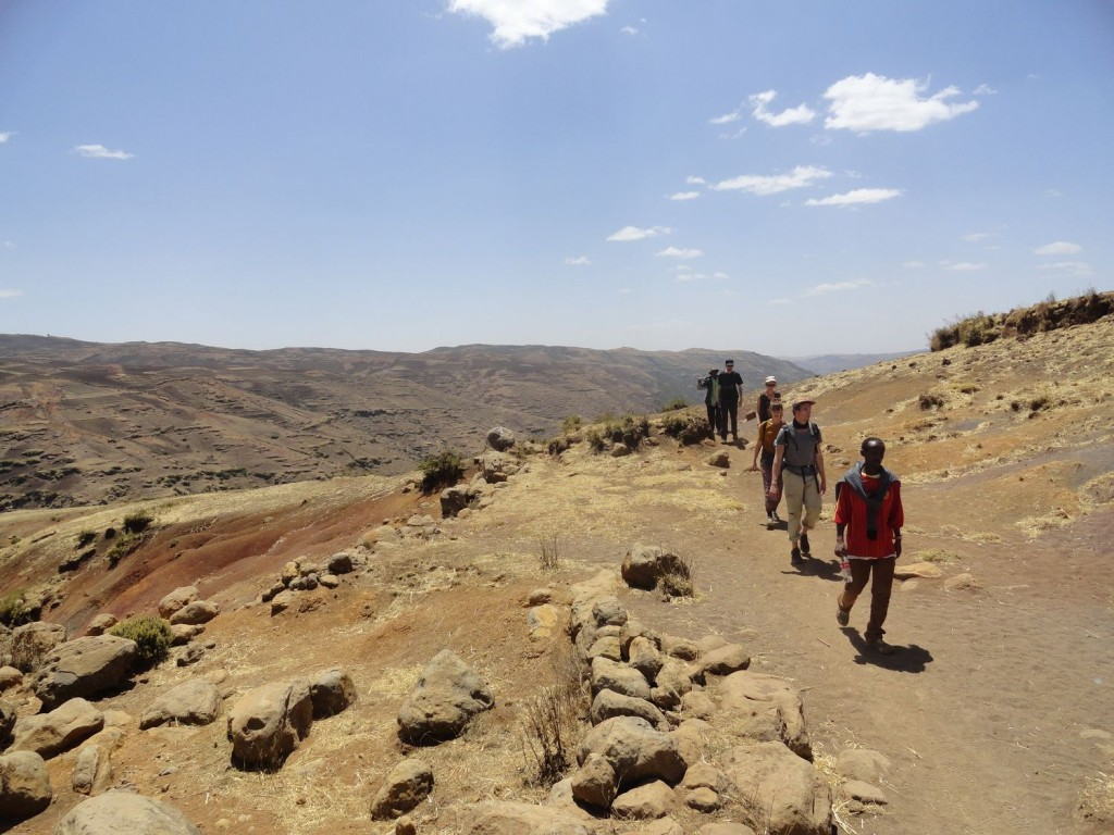 Wandergruppe in den Simien Mountains