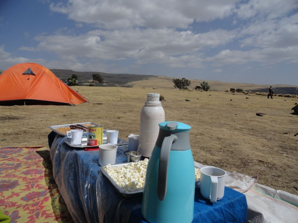 Kaffee und Popcorn nach der Wanderung