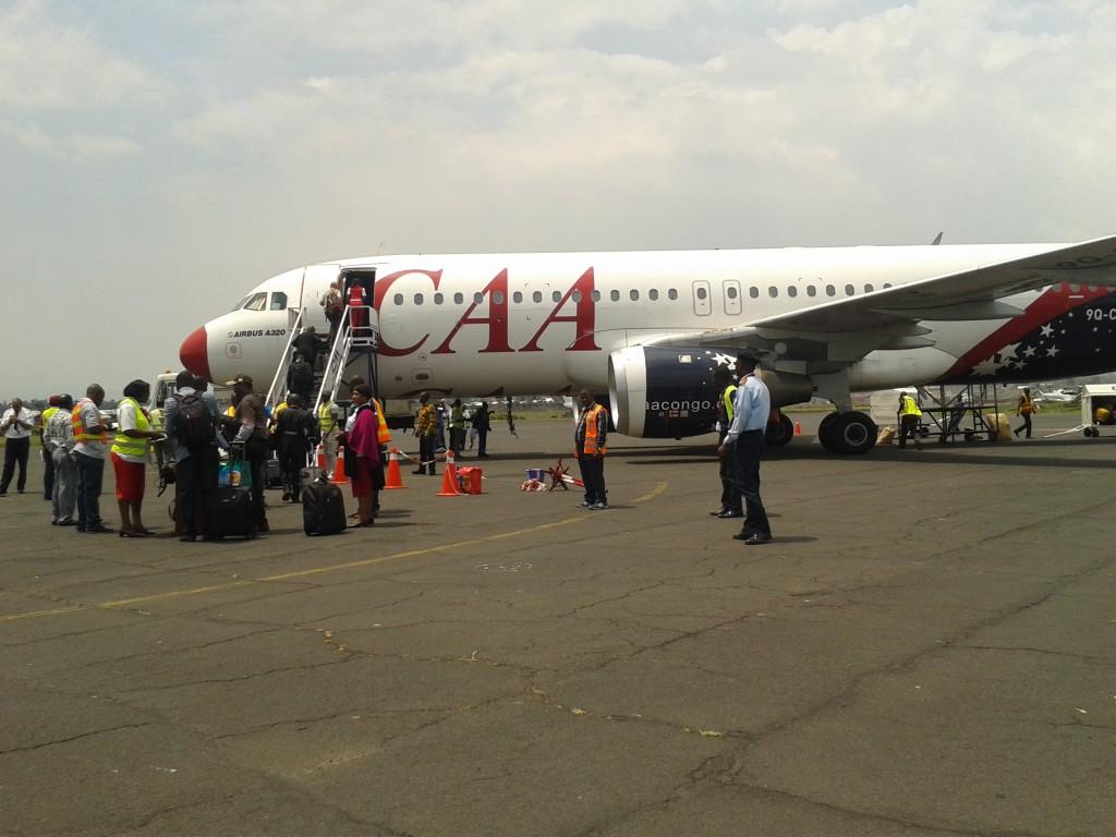 CAA-Flug nach Kisangani