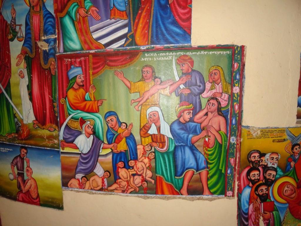 Malereien im Kloster Entos Eyes