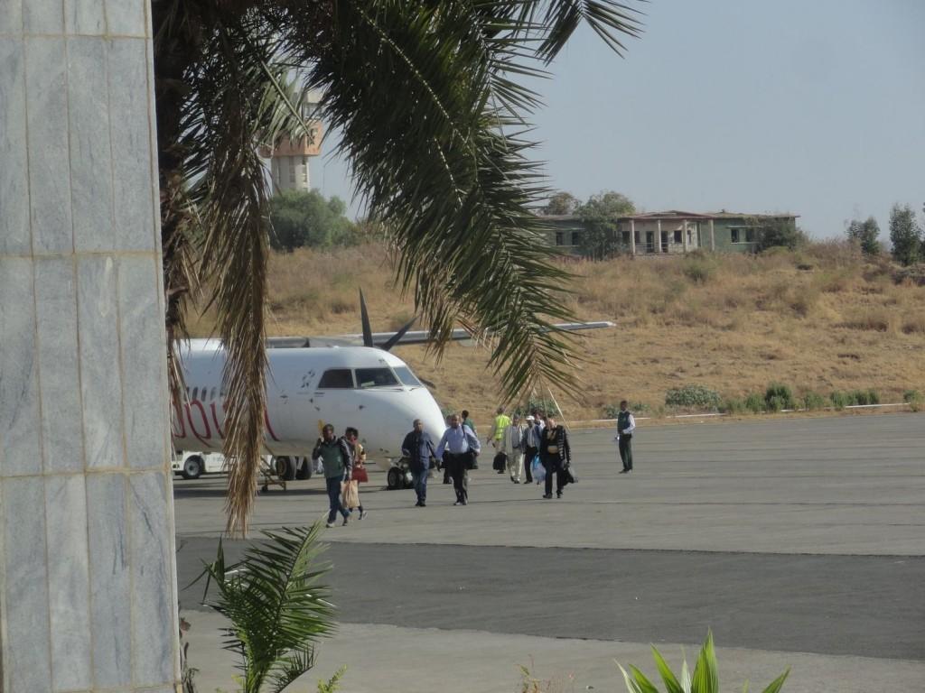 Flugzeug in Gonder