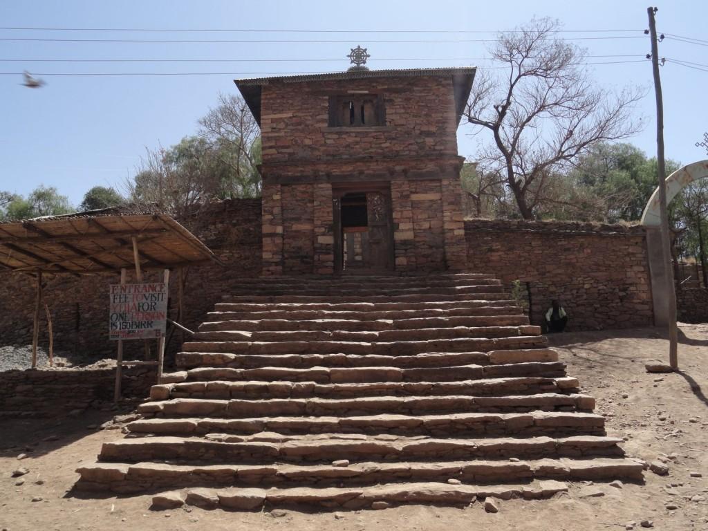 Eingang zum Tempel in Yeha