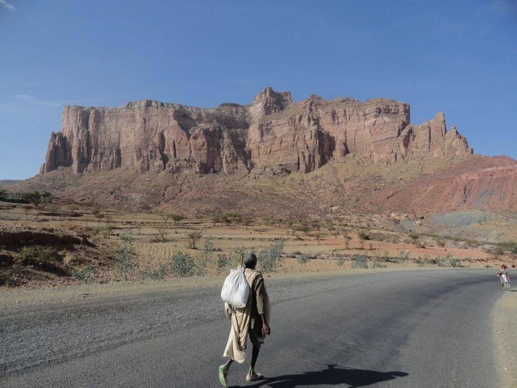 Wanderung zur Abuna Yemata Guh Kirche