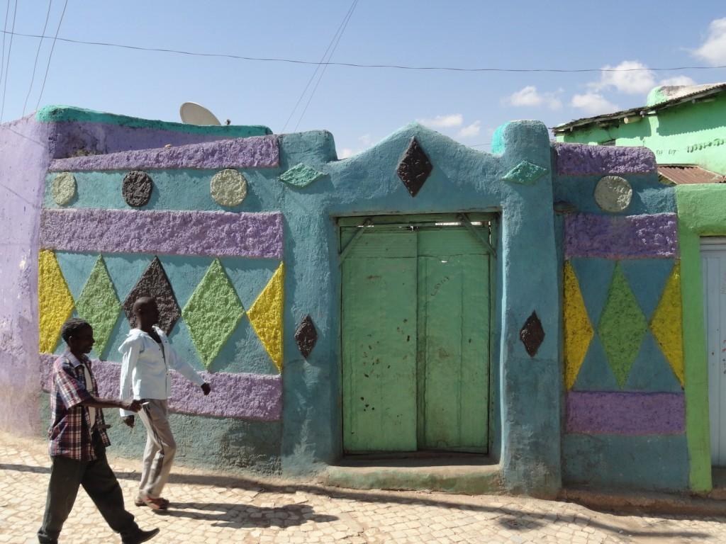 Bunte Häuser in Harar