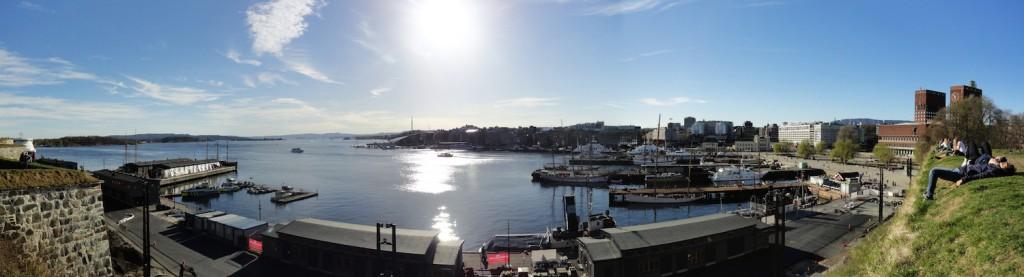 Panorama vom Osloer Hafen
