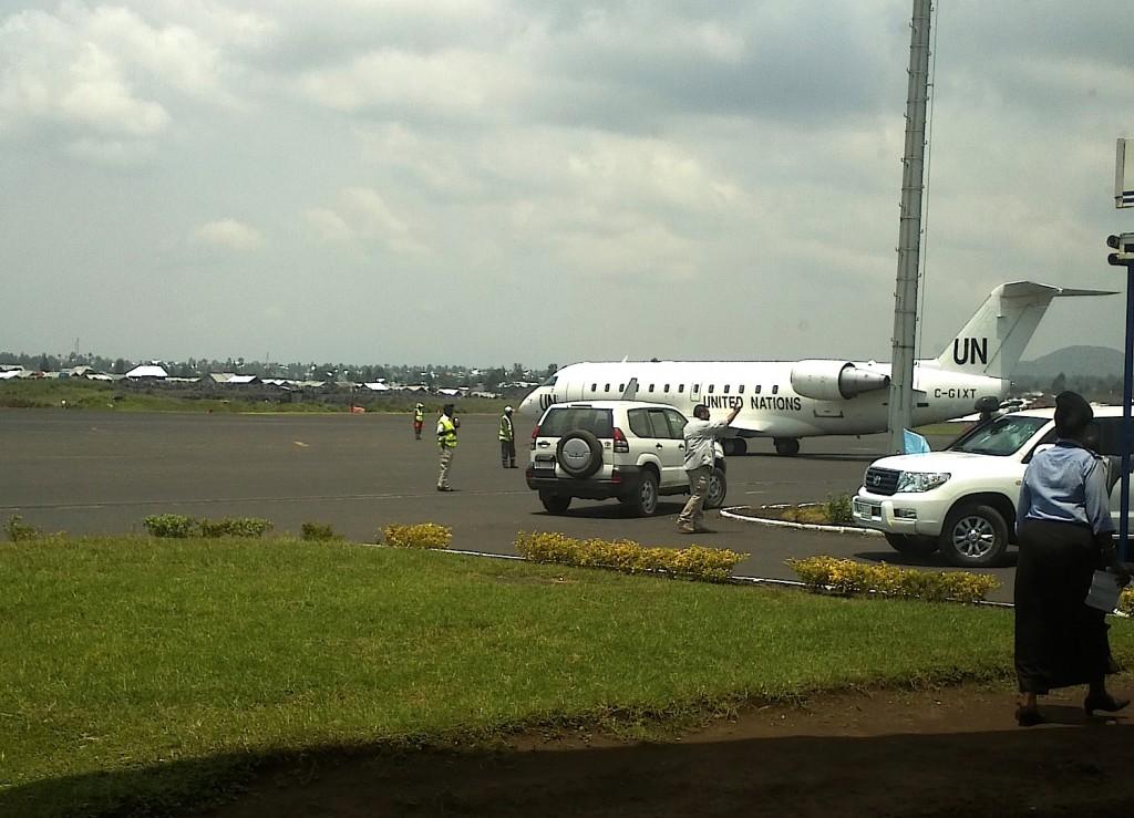 UN plane in Goma