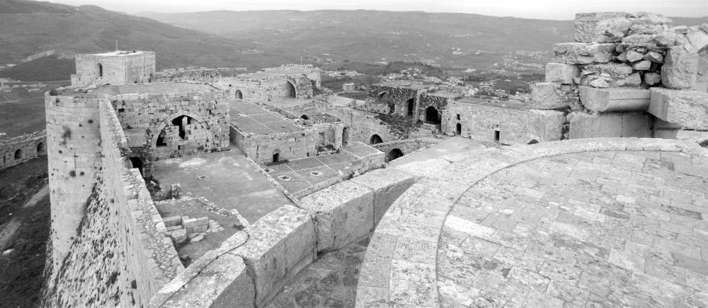 Blick über den inneren Bereich der Festung