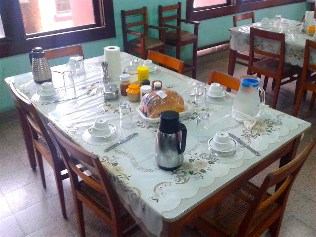 Breakfast in the Procure Ste Anne in Kinshasa