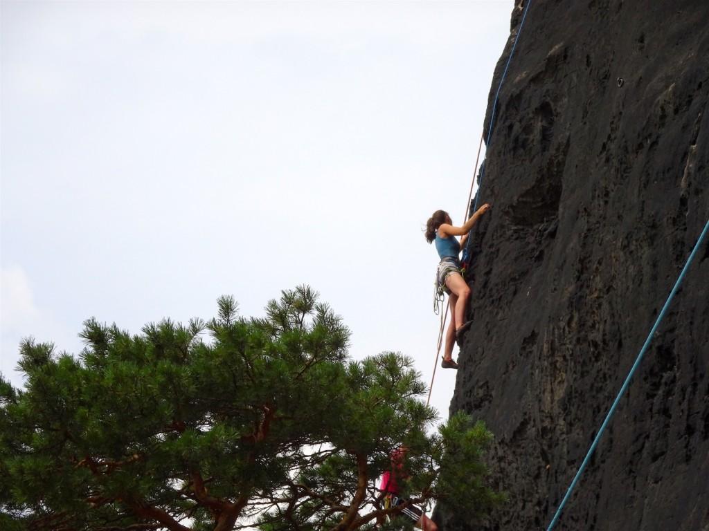 Kletterer am Lilienstein