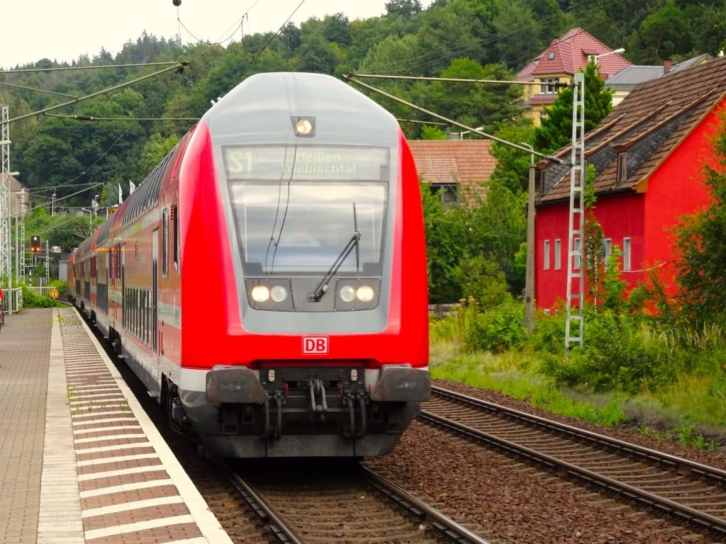 Zug nach Dresden