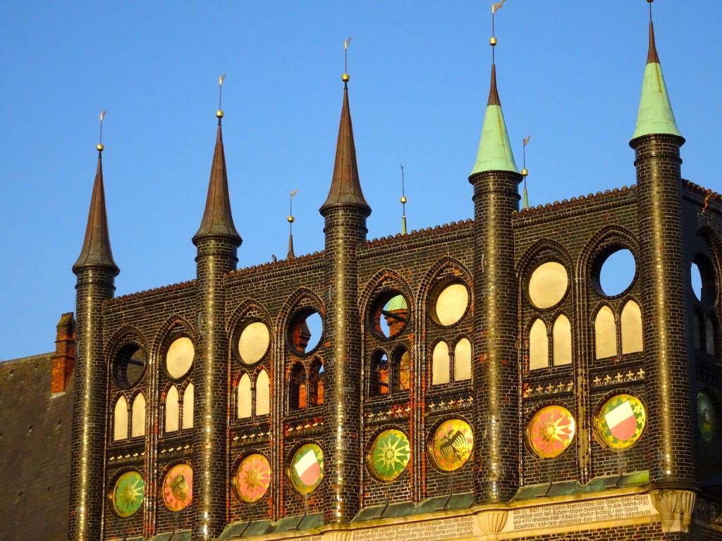 Fassade des Rathauses von Lübeck