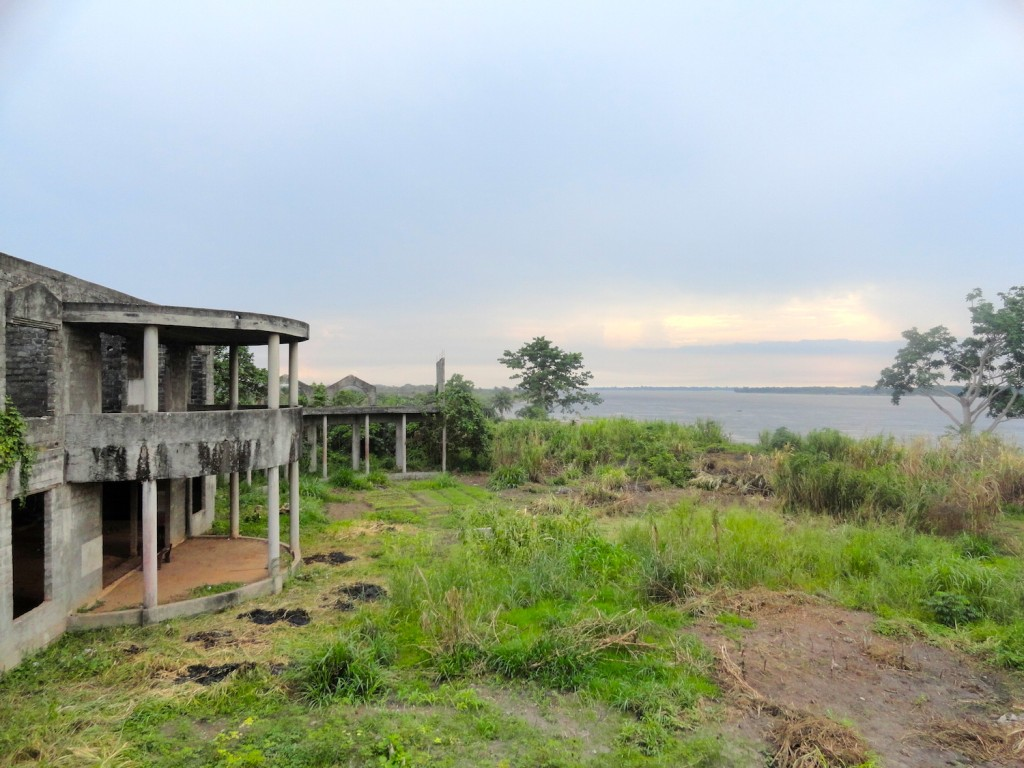Ruins of the Mobuto palace along the Congo River in Mbandaka