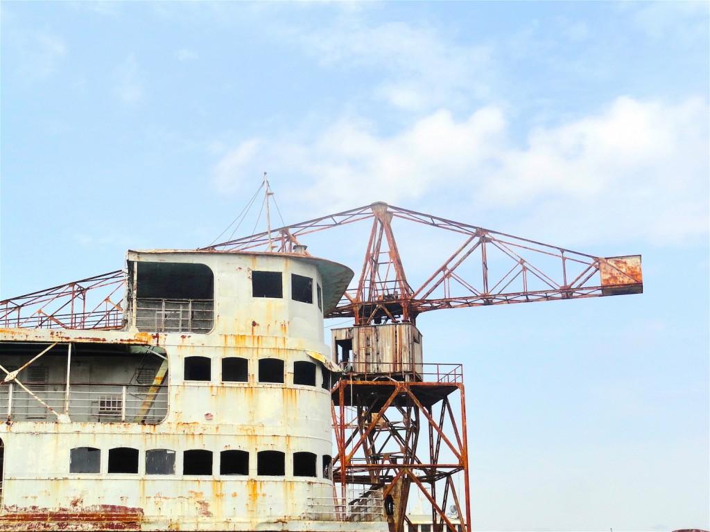 Shipyard in Kinshasa