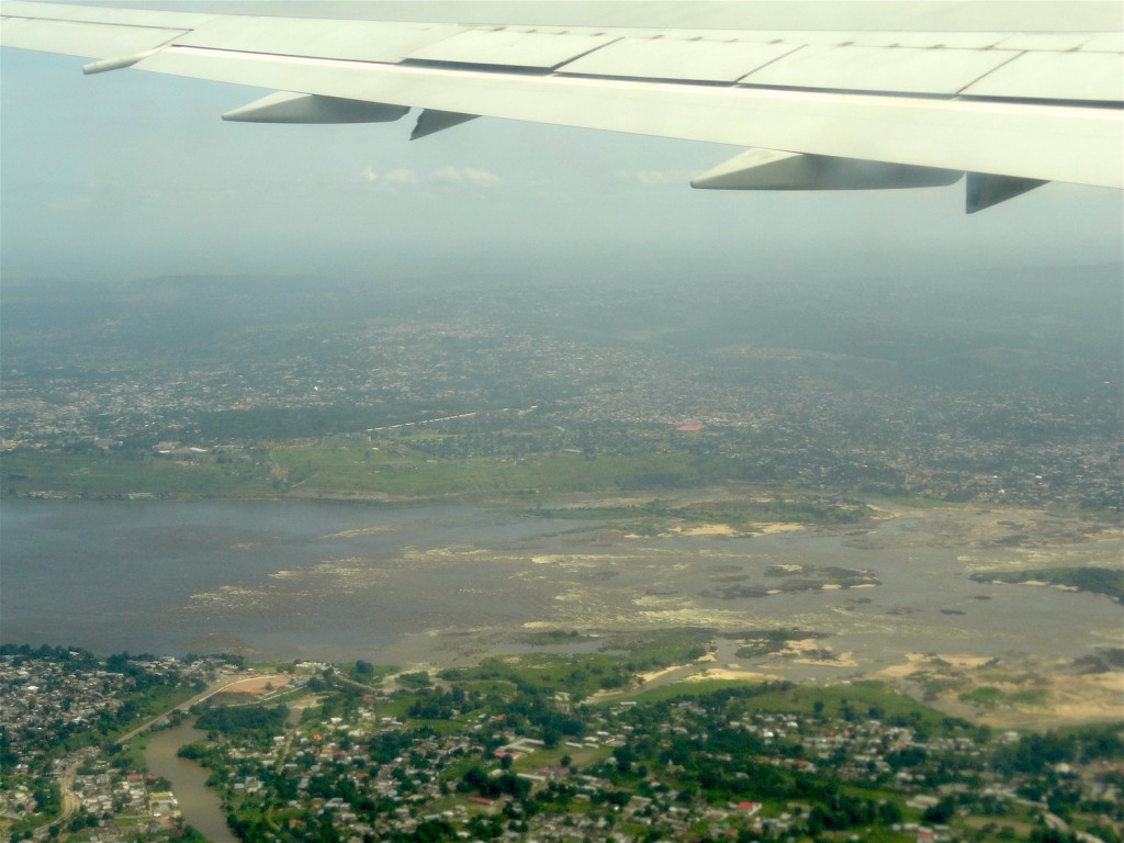 Leaving Kinshasa - Last view of the Congo River