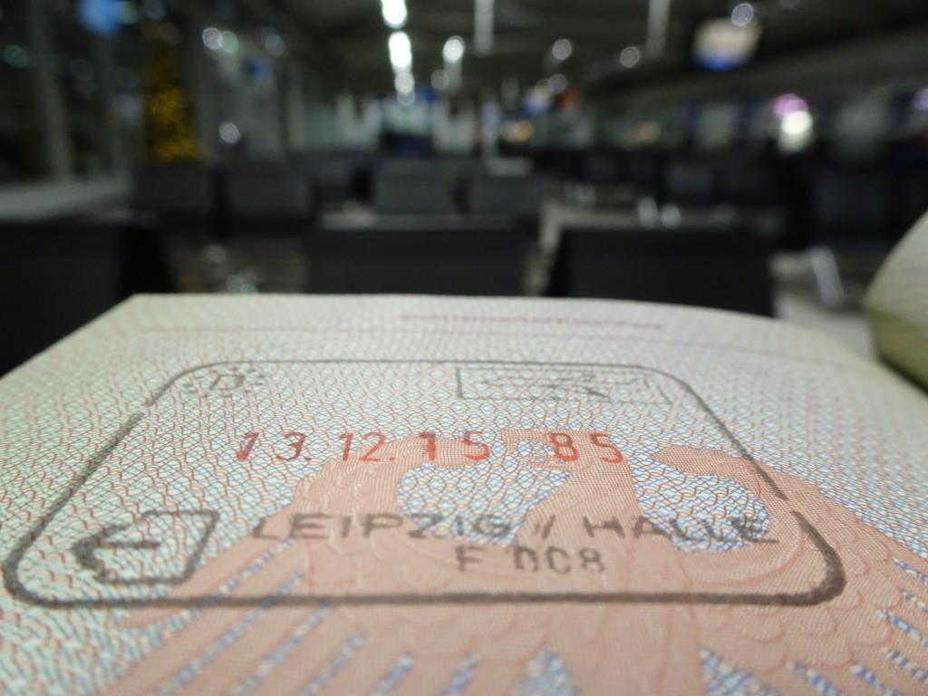 Deutscher Ausreisestempel