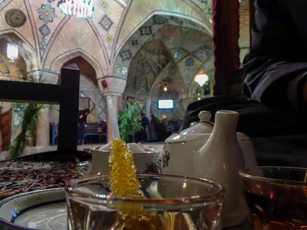 Tee im Hammam Vakil