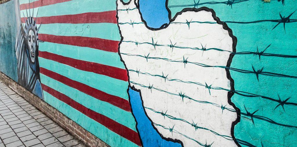 Bemalte Wände an der ehemaligen amerikanischen Botschaft