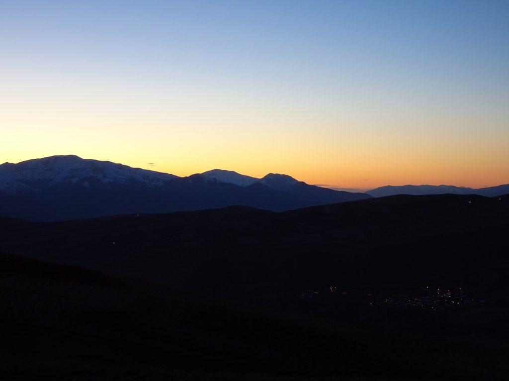 Sonnenuntergang im Alamut Valley