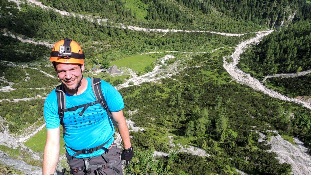 Dominik am Siega-Klettersteig