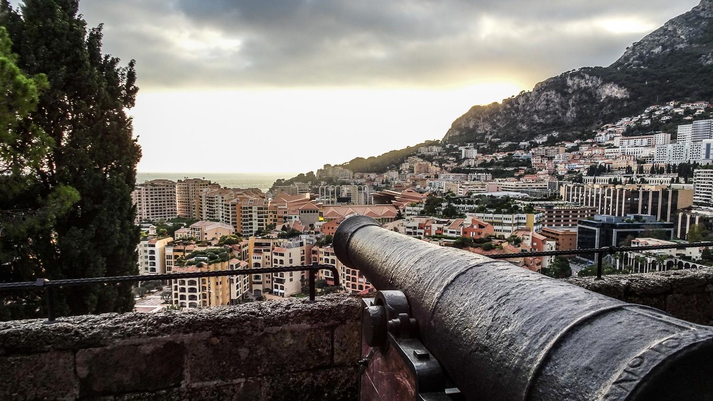 Blick von der Burg auf Monaco