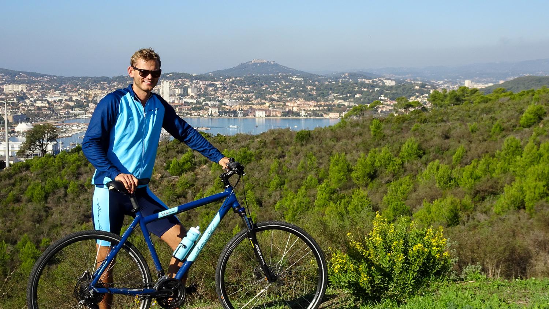 Auf Fahrradtour