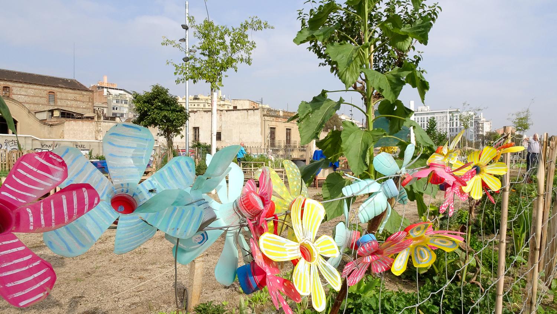 Gartenanlage in Barcelona