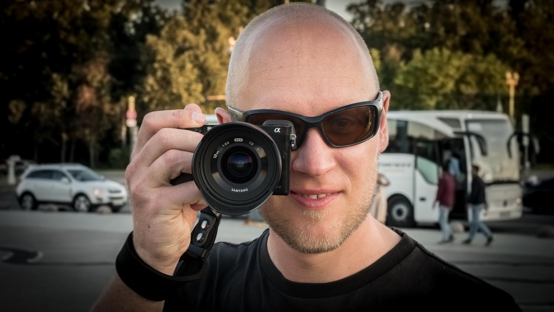 Steffen mit Kamera