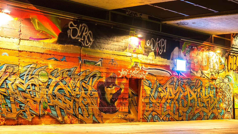 Grafiti am Donaukanal